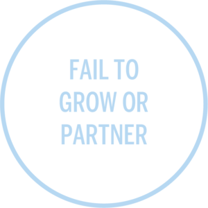 fail to grow or partner